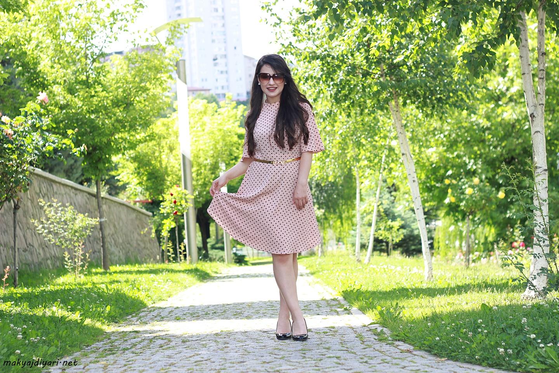 puantiyeli-retro-elbise